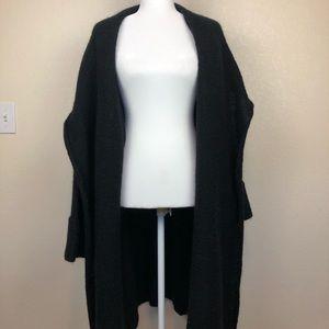 Soft Surroundings Black Open Front Long Sweater